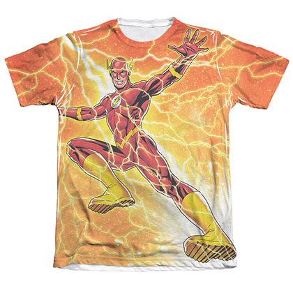 The Flash Fast As Lightning Sublimation White T-Shirt