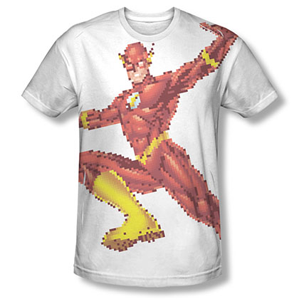 The Flash 8 Bit Pixels Sublimation White T-Shirt