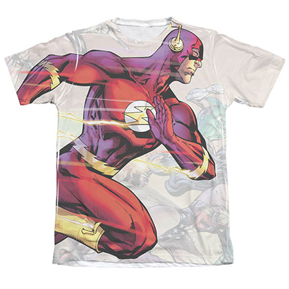 The Flash Taking The Lead Sublimation White T-Shirt
