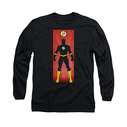 The Flash Block Black Long Sleeve T-Shirt