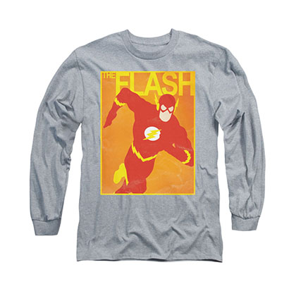 The Flash Simple Poster Gray Long Sleeve T-Shirt