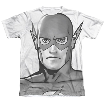 The Flash BW Head Sublimation White T-Shirt