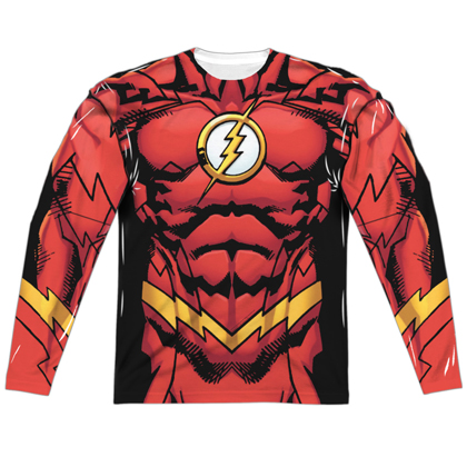 The Flash New 52 Long Sleeve Costume Tee
