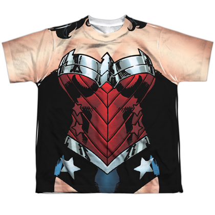 Wonder Woman Costume Youth Tee