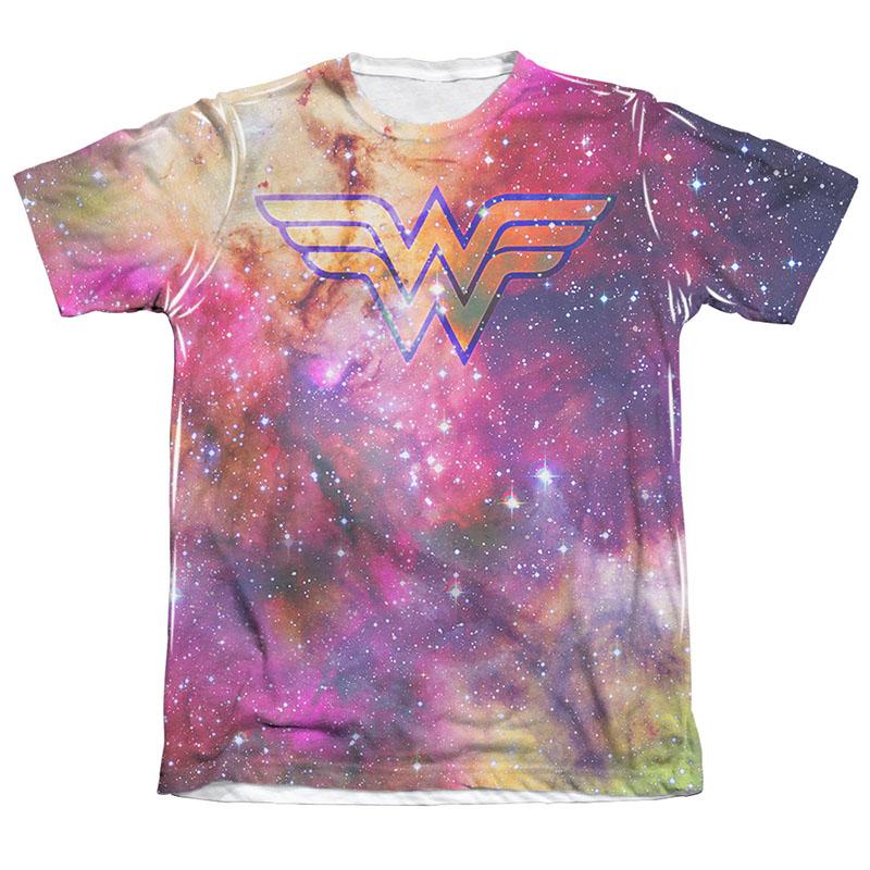 Wonder Woman Galaxy Sublimation White T-Shirt