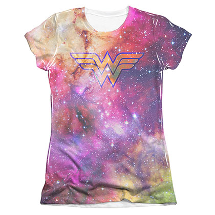 Wonder Woman Galaxy Sublimation Juniors T-Shirt