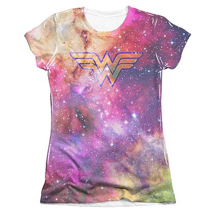 Wonder Woman Galaxy Sublimation Juniors T-Shirt