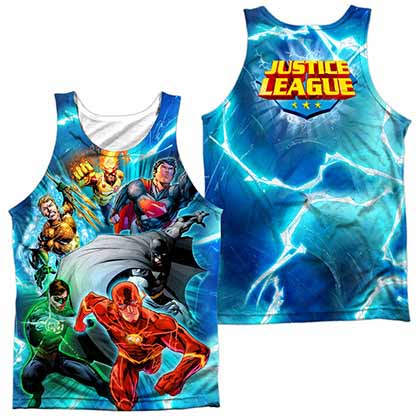 Justice League Lightning Team Sublimation Tank Top