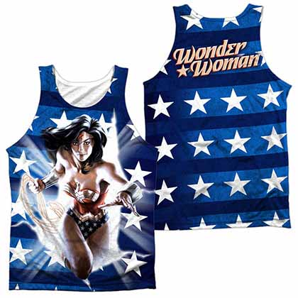 Justice League Ripped Flag Sublimation Tank Top