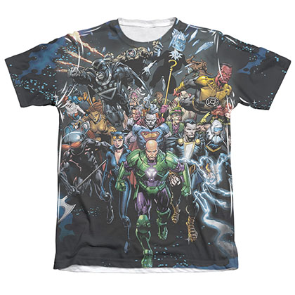 Justice League Forever Evil Sublimation White T-Shirt
