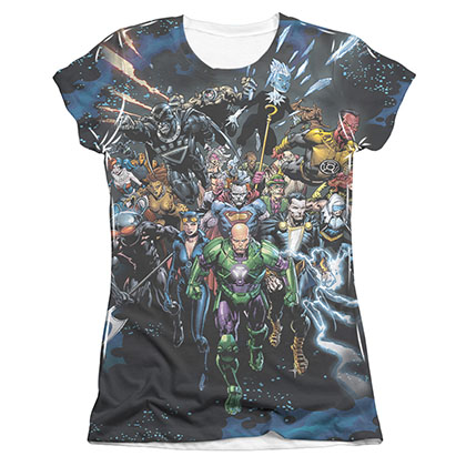Justice League Forever Evil Sublimation Juniors T-Shirt