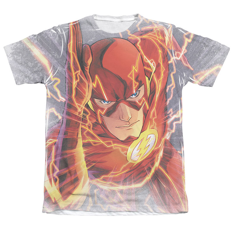 The Flash Barry's Back Sublimation White T-Shirt