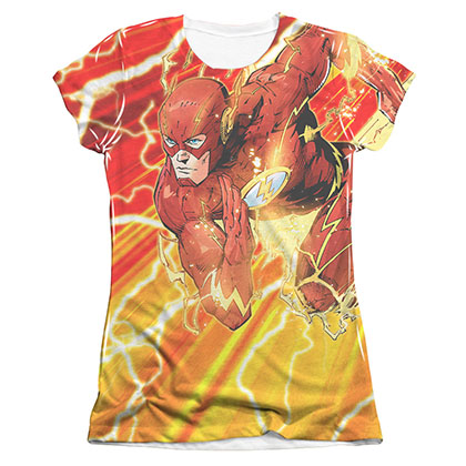 The Flash Lightning Dash Sublimation Juniors T-Shirt