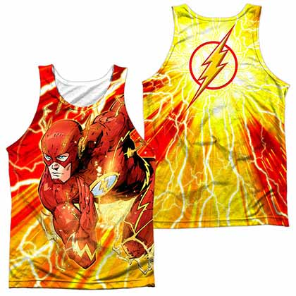 The Flash Lightning Dash Sublimation Tank Top