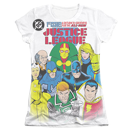 Justice League Return To Greatness Sublimation Juniors T-Shirt
