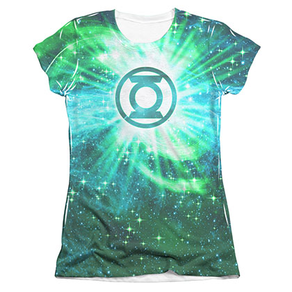 Green Lantern Power Swirl Sublimation Juniors T-Shirt