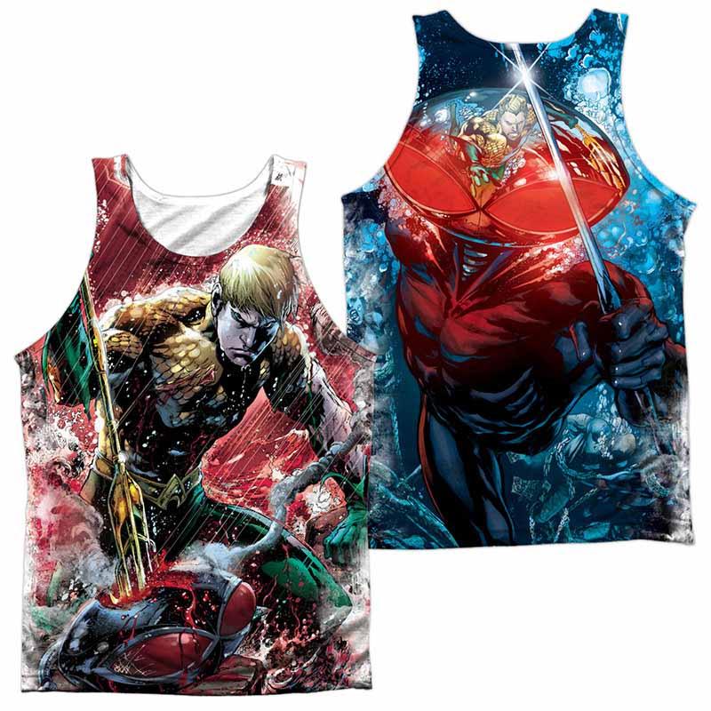 Justice League Aquaman Vs Manta Sublimation Tank Top