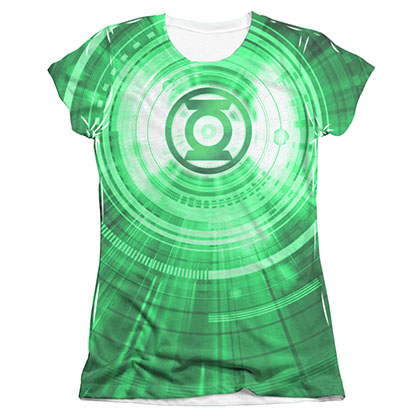 Green Lantern Radial Sublimation Juniors T-Shirt
