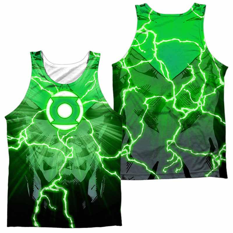 Green Lantern Burst Sublimation Tank Top