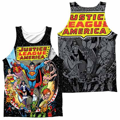 Justice League Stars Sublimation Tank Top