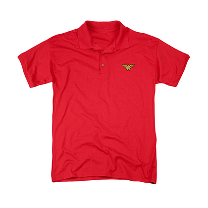 Wonder Woman Logo Red Polo Shirt