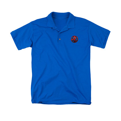 Justice League Logo Blue Polo Shirt