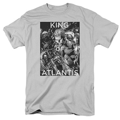 Aquaman King Of Atlantis Gray T-Shirt