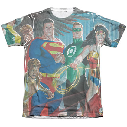 Justice League Of Heroes Sublimation T-Shirt