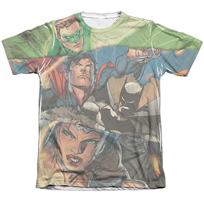 Justice League Torn Sublimation T-Shirt