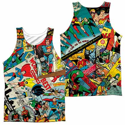 Justice League Classic Collage Sublimation Tank Top