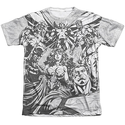 Justice League Graphic Gathering Sublimation T-Shirt