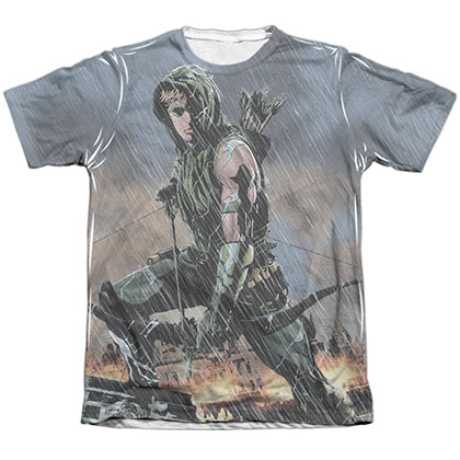 Green Arrow Rain Sublimation T-Shirt