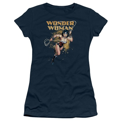 Wonder Woman Star Lasso Women's Blue Tshirt