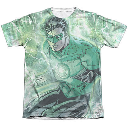 Green Lantern Lightning Sublimation T-Shirt