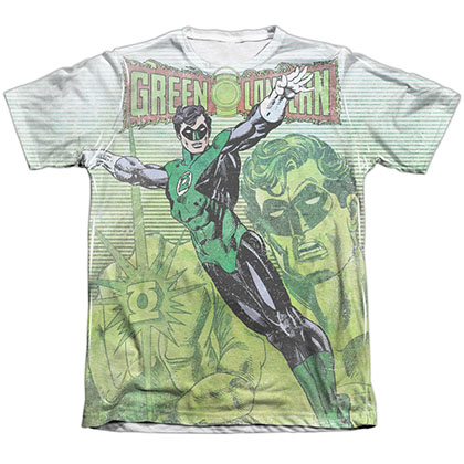 Green Lantern Vintage Leap Sublimation T-Shirt