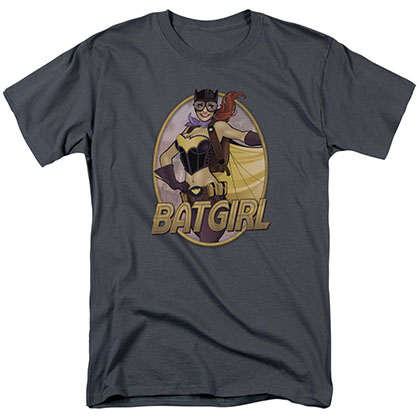 Batman Batgirl Bombshell Gray T-Shirt