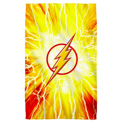The Flash Logo Beach Towel