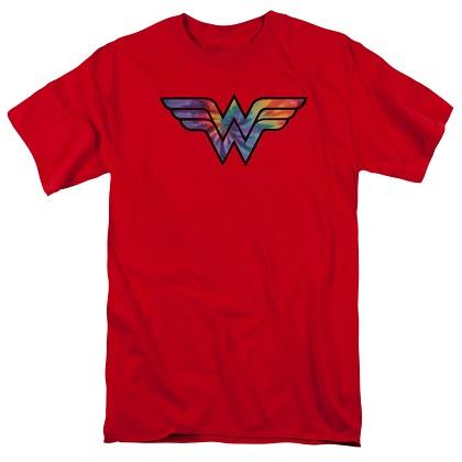 Wonder Woman Tie Dye Logo Tshirt