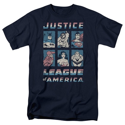 Justice League Hero Boxes Tshirt