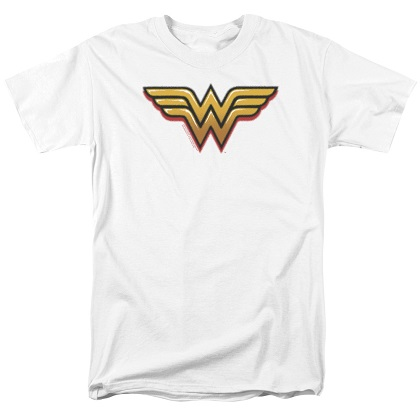 Wonder Woman Airbrushed Logo White Tshirt