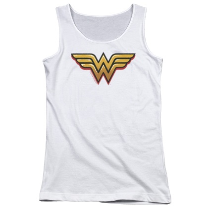 Wonder Woman Airbrushed Logo Women's Tank Top