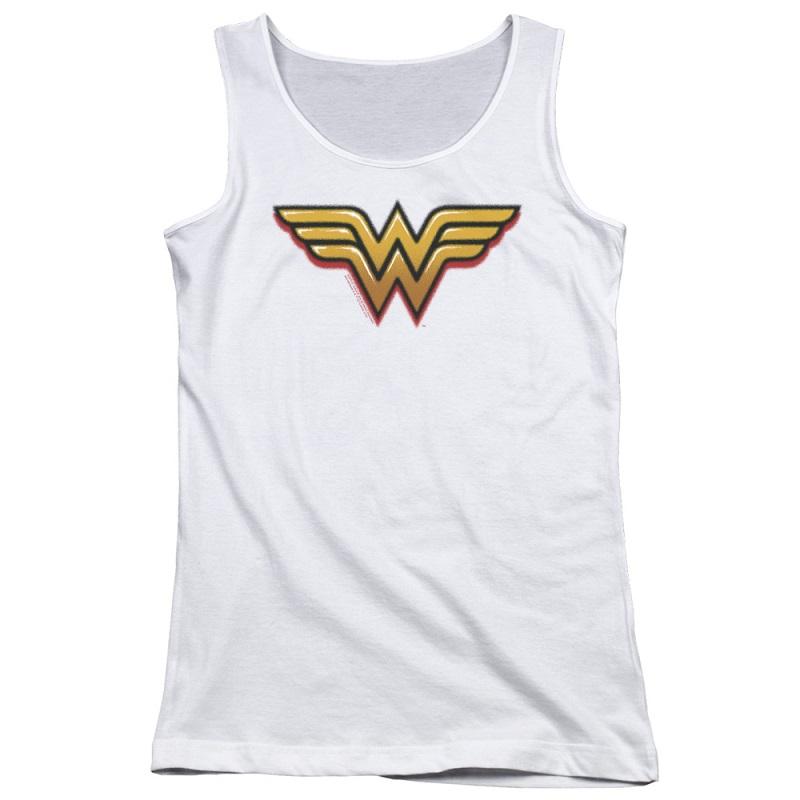 Wonder Woman Airbrushed Logo Women's Tank Top