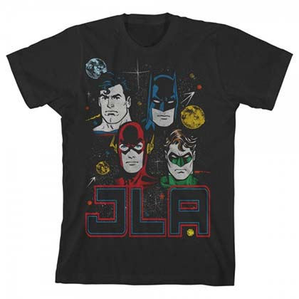 Justice League Youth Black JLA T-Shirt