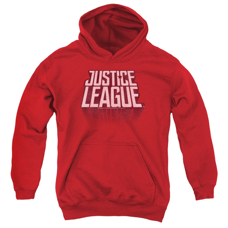 Justice League Logo Youth Red Hoodie