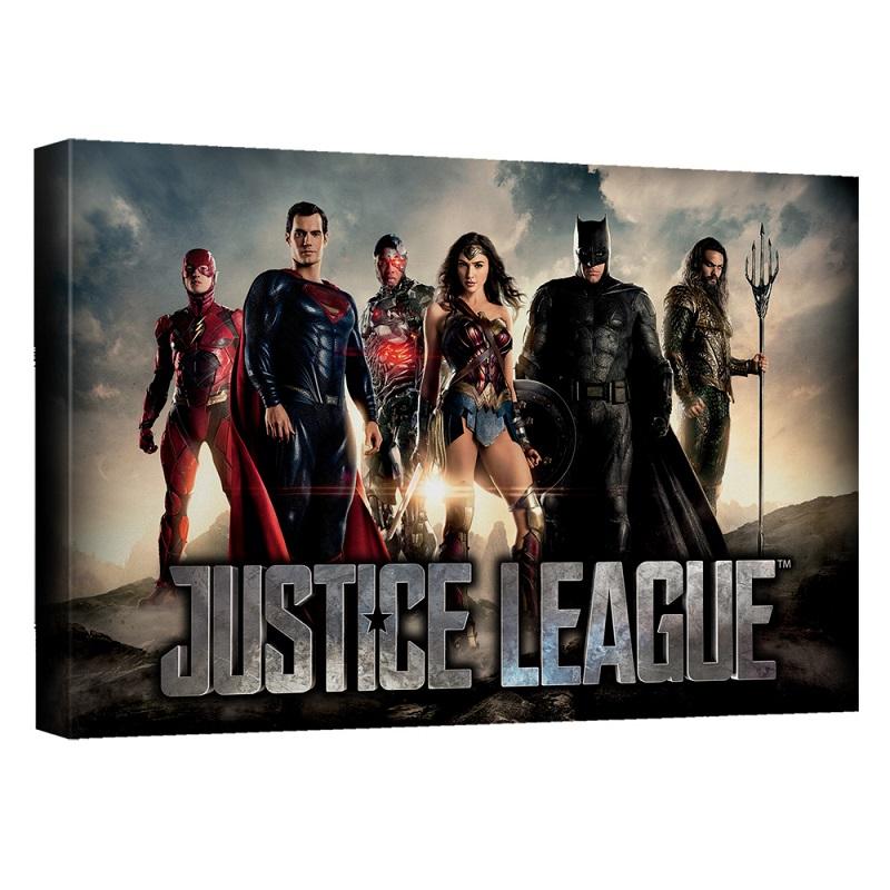 Justice League Logo 16x20 Canvas Print