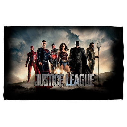 Justice League Movie Poster Beach Towel