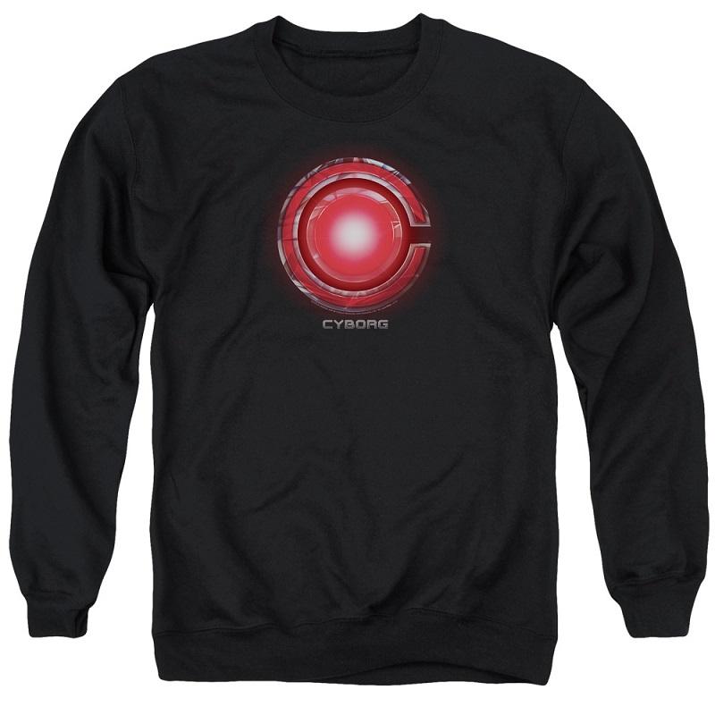 Cyborg Logo Justice League Crewneck Sweatshirt