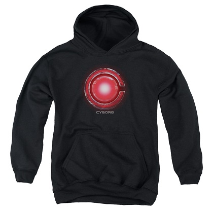 Justice League Cyborg Logo Youth Hoodie