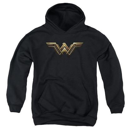 Justice League Wonder Woman Logo Youth Hoodie