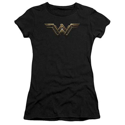 Wonder Woman Justice League Logo Juniors Tee Shirt
